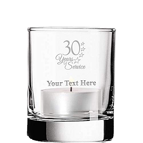 Crown Awards Custom Candleholders, 30 Years of Service Votive Candle Holder Gifts