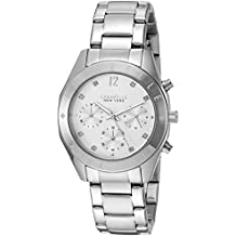 Caravelle New York Women's Quartz Stainless Steel Dress Watch (Model: 43L190)