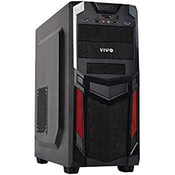 Amazon Com Vivo Atx Mid Tower Computer Gaming Pc Case