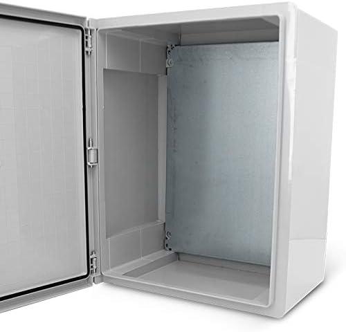 KOOP Armoire de commutation /électrique avec bo/îtier industriel IP65 et plaque de montage galvanis/ée Verrouillage porte avec joint invers/é Bo/îtier mural Bo/îtier vide ABS 250 x 350 x 150 25 x 35 x 15 cm