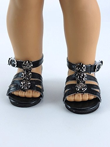 Black Strappy Detailed Sandals for 18