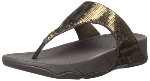 Fitflop Electra Klassiska Paljett Flip-flop Sandal Brons
