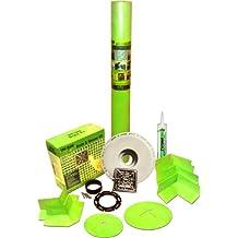 """Trugard Waterproof Shower Kit with Drain Kit 48"""" x 48"""" - 110 SQFT Roll"""