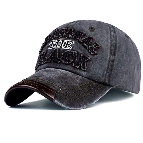 気楽な実際の従来の野球帽 男性女性 カジュアルカセットのキャップの文字 刺繍 黒いキャップ,黒,