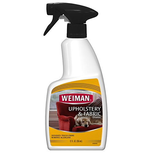 Upholstery Fabric Cleaner - Weiman Upholstery & Fabric Cleaner - Removes Tough Stains & Odors - 12 Fl. Oz.