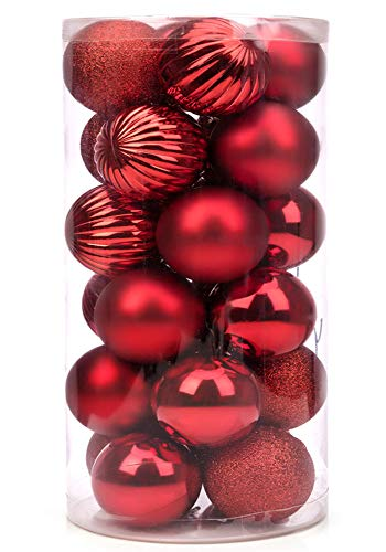SANNO 24ct 60mm Red Christmas Tr...