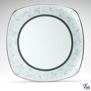 Noritake Regina Platinum 8-3/4-Inch Square Luncheon Plate by ()
