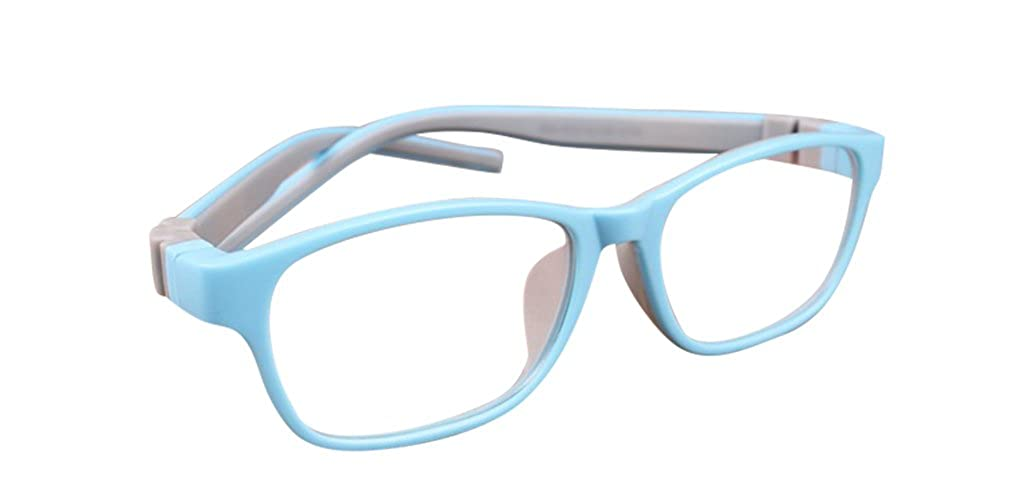 De Ding Kinder Silikon opical Brillen Sky Blau Grau Rahmen