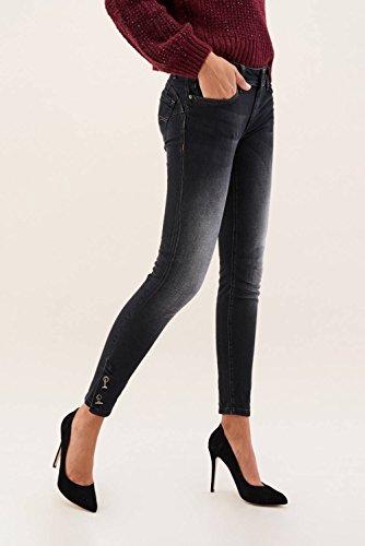 Occhielli Nero Salsa In Denim Nei Jeans Con Wonder Capri qrvw8n0q