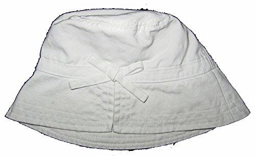 Baby Gap Hats (Baby Gap Girls White Bow Bucket Sun Hat S/M)