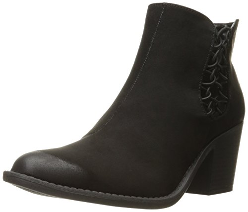 Qupid Women's Tobin-42 Boot, Black, 7 M (Black Polyurethane Ankle Boot)