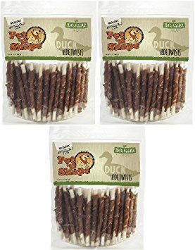 Pet 'n Shape Duck Hide Twists 3lb (3 x 1lb) by Pet 'n Shape