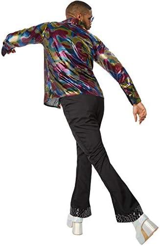 dressforfun 900381 - Disfraz de Hombre Disco King, Disfraz de Dos Piezas de Estilo Discoteca (L   No. 302167)