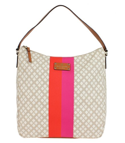 a740fc2481d8 Amazon.com  Kate Spade Classic Spade Mona Shoulder Hobo Bag Purse Stucco   Shoes