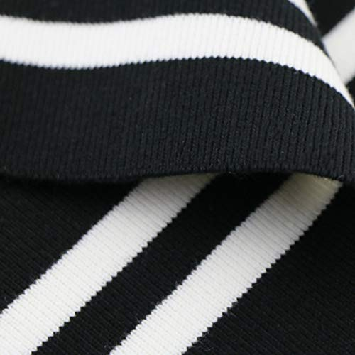 15-16cm Cotton Knitted Elastic Strip Cuff Fabric DIY Sewinguniform Sweatercotton Fabric (Yarn Yard 110)