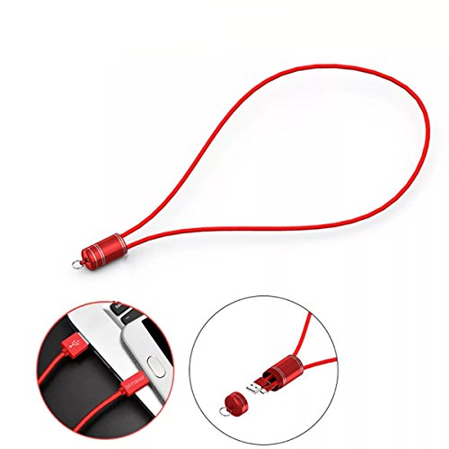 Sling A-line Wire - Creative Cable Phone Data Line for iphone /Type-C/ Android, Work Card Sling Charging Line(2 PACK)