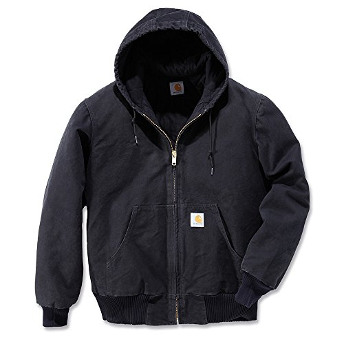 Carhartt Men's Sandstone Active Jacket,Black,Large ()