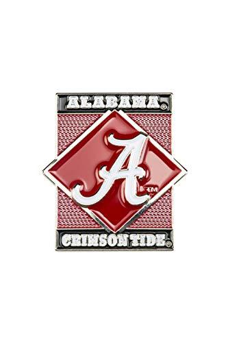 - aminco NCAA Alabama Crimson Tide Diamond Pin, Team Color, 4
