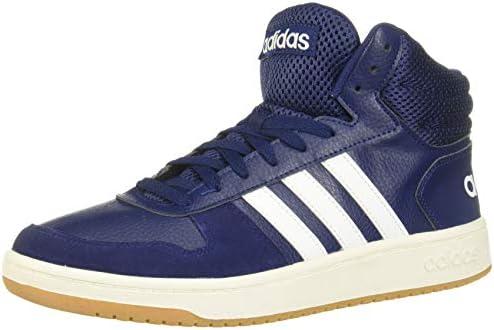 adidas Hoops 20 Herrenschuh-Sneaker aus blauem Wildleder und Leder EE7384-BLU