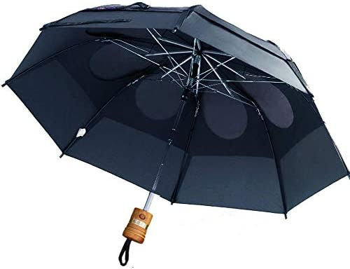 GustBuster Metro 43 Canopy Personalized Automatic Wind Resistant Rain Umbrella NVY