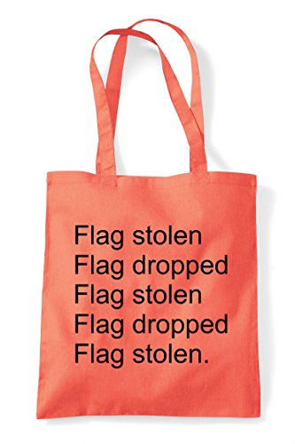 Bag Flag Coral Tote Stolen Multiplayer Repeat Gaming Capture Dropped Pvp Shopper The Online Statement Mode 67Pwq6x