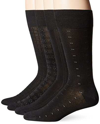 Kirkland Signature - Mens Dress Socks - Black - 4 Pairs - Fits Shoe Sizes 6 - Outlet Ski Company