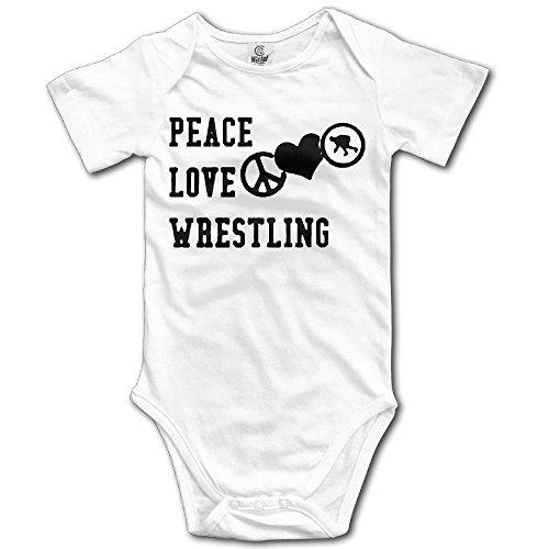 MMJQ6 Peace Love Wrestling Infant Baby Boys Girls Infant Creeper Short-Sleeve Romper Bodysuit Onesies Jumpsuit by MMJQ6