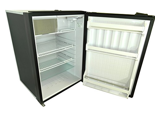 TruckFridge TF130 Black Refrigerator (4.2 cubic ft 12vDC for Commercial Vehicles)