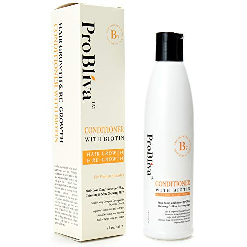 Probliva Hair Growth & Re-growth Conditioner With Biotin - Conditioner for Thinning Hair and Hair loss for Women and Men - w/Emu Oil, Jojoba Oil to Boost Hair Growth & Healthy Hair - Nourishes & Moist