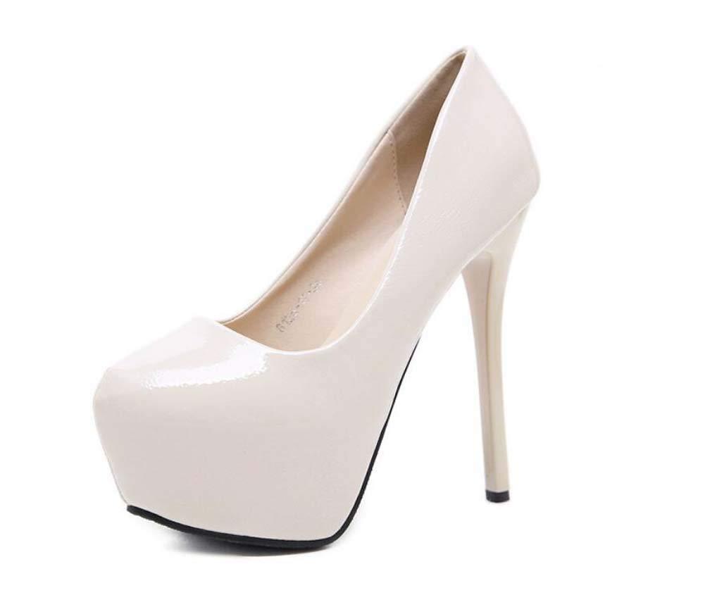 Mamrar 14Cm Stiletto Pump Plattform High Heels Frauen Sexy Reine Farbe OL Court Schuhes Kleider Schuhe EU-Größe 34-40