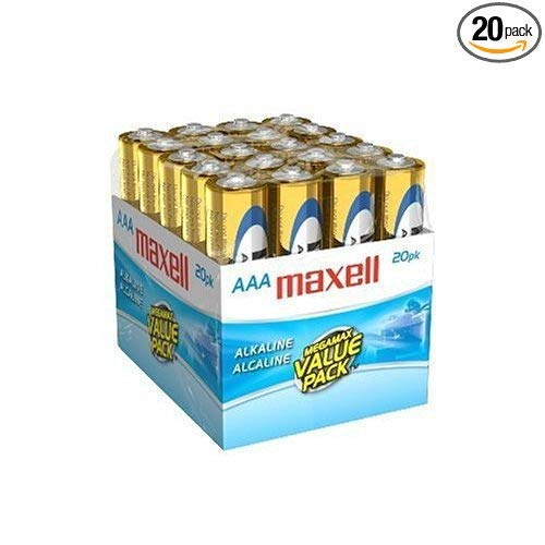 Maxell 723849 Ready-to-go Long Lasting and Reliable Alkaline Battery AAA Cell 20-Pack with High Compatability