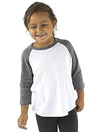 Toddler Baseball Tee Shirt Triblend Raglan
