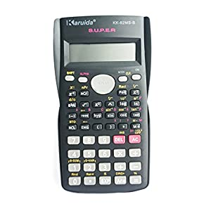 Scientific Calculator, Engineering Calculator Black, 2-line Display, for High School Students, College Students and Professionals