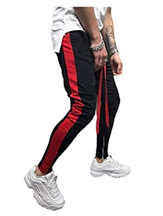 Howely Mens Workout Stitch Casual Loose Active Long Pants Training Pant 1 2XL