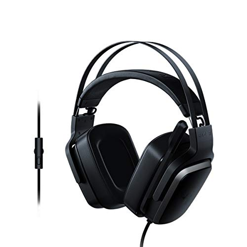 IDS Home Tiamat 2.2 V2 Virtual 7.1 Channel Headphones Headset with Faux Leather Velvet Padded Earmuffs/Black