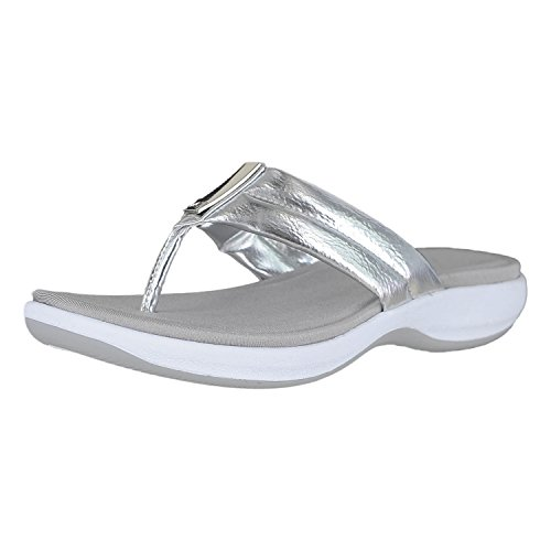 Anne Klein Sport 7Quatara Silver Synthetic Womens Slip-On Size 6M