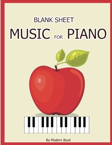 Blank Sheet Music For Piano: Treble Clef And Bass Clef Staff paper For Piano, 8.5x11 with 100 Blank Manuscript pages