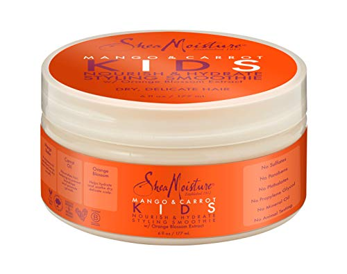 (Shea Moisture Mango & Carrot Nourish & Hydrate Styling Smoothie Cream for Kids, 6 Ounce)