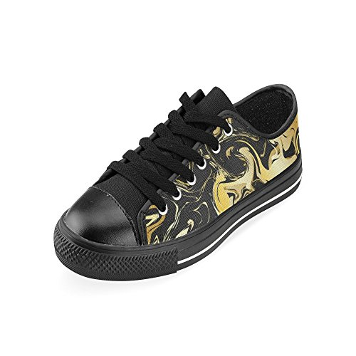 Art Retro Classic Canvas On Skulls Marble Men Shoes for InterestPrint Slip qvzAn5C