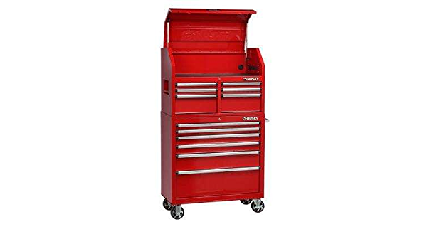 Amazon Com Husky 36 In 12 Drawer Tool Chest And Cabinet Combo In Red Home Improvement