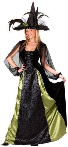 FunWorld Women's Goth Maiden Witch, Black, S/M 2-8