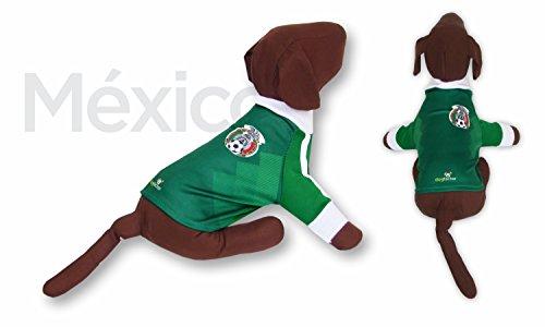 - Mexico Dog T-Shirt Worldcup Shirt Camisetas para Perros selecciones Futbol Soccer (M)