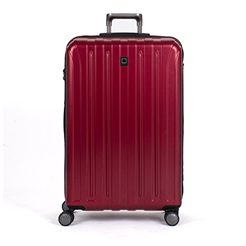 - Delsey Luggage Helium Titanium 29 Inch EXP Spinner Trolley (One size, Red)