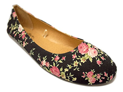 Charles Albert Womens Basic Closed Round Toe Ballet Flat Slip On Shoe Floral DwAx5