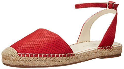 Anne Klein Espadrilles (Anne Klein Women's Arika Leather Espadrille Sandal, Red, 7.5 M)