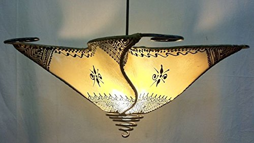 Ceiling Moroccan Henna Lamp Shade   Star   Cream Di 40CM   Despatch Mid  May