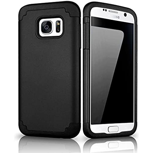 Galaxy S7 Case, Samcore Hybrid Dual Layer Shockproof Rubber Rugged case for Samsung Galaxy S7 [BLACK/BLACK] Sales