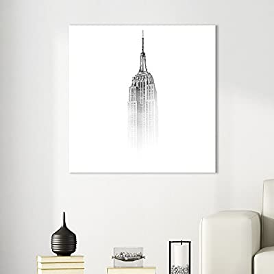 Square The Empire State Building Among The Mist, Created Just For You, Alluring Work of Art