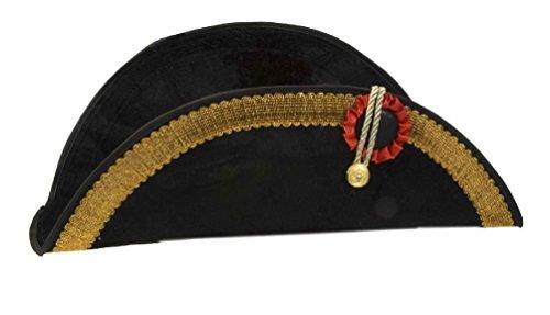 Super Saver Napoleon Costume Bicorn Hat Ships Captains Hat (Bicorn Hat Costume)