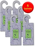 6 Hanging Anti Moth Lavender Sachets - Natural Lavender - Natural Moth Repellents for use in drawers, wardrobes and storage bags